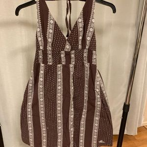 brown with white stitch summer dress from Prana